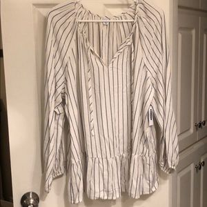 Old Navy blue striped blouse